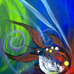 The Piper Fish Will Lead Us to Reason  Modern Abstract Fish Art Artwork Paintings J Vincent Scarpace