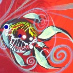 We Cannot Believe You Any Longer  Modern Abstract Fish Art Artwork Paintings J Vincent Scarpace