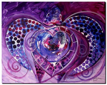 Ship Wrecked Sea Turtle and Love  Modern Abstract Fish Art Artwork Paintings J Vincent Scarpace