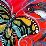 Love  Modern Abstract Fish Art Artwork Paintings J Vincent Scarpace