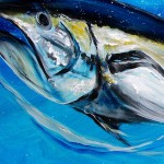 Yellow Fin Tuna Abstract  Modern Abstract Fish Art Artwork Paintings J Vincent Scarpace