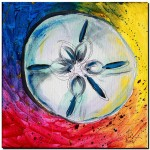 Sand Dollar Abstract   Modern Abstract Fish Art Artwork Paintings J Vincent Scarpace