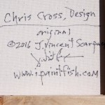 Chris Cross Design  Modern Abstract Fish Art Artwork Paintings J Vincent Scarpace
