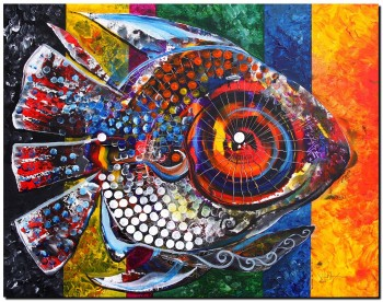 AcidFish   Modern Abstract Fish Art Artwork Paintings J Vincent Scarpace
