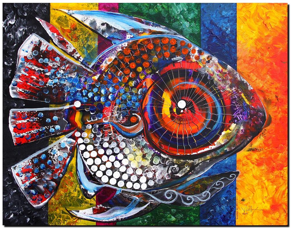 AcidFish   Modern Abstract Fish Art Artwork Paintings J Vincent Scarpace