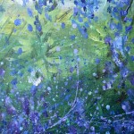 Abstract Bluebonnets  Modern Abstract Fish Art Artwork Paintings J Vincent Scarpace