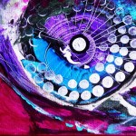 Modern Abstract Fish Art Artwork Paintings J Vincent Scarpace