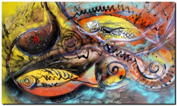 Stomach Bug  Modern Abstract Fish Art Artwork Paintings J Vincent Scarpace