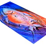 Abstract Fire Belly  Modern Abstract Fish Art Artwork Paintings J Vincent Scarpace