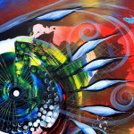 Rocket Fish  Modern Abstract Fish Art Artwork Paintings J Vincent Scarpace