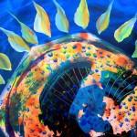 Girasol de la Noche  Modern Abstract Fish Art Artwork Paintings J Vincent Scarpace
