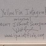 Yellow Fin Integral  Modern Abstract Fish Art Artwork Paintings J Vincent Scarpace