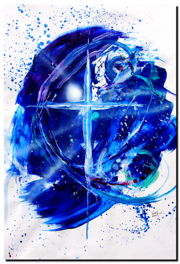 Mystery of Faith  Modern Abstract Fish Art Artwork Paintings J Vincent Scarpace