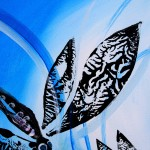 Deux Libellules Abstrait  Modern Abstract Fish Art Artwork Paintings J Vincent Scarpace