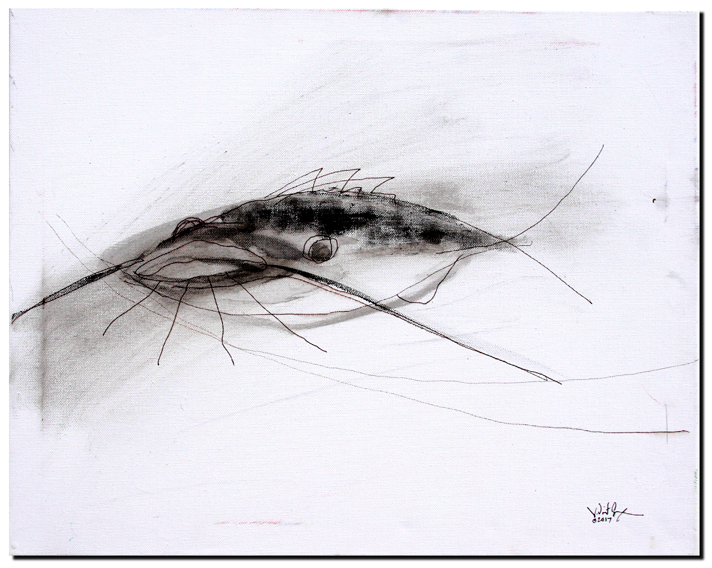 Minimalistic Catfish  Modern Abstract Fish Art Artwork Paintings J Vincent Scarpace
