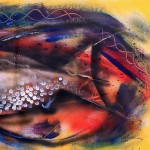 And then God Said Swim  Modern Abstract Fish Art Artwork Paintings J Vincent Scarpace