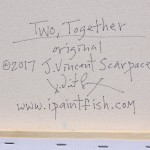 Two Together  Modern Abstract Fish Art Artwork Paintings J Vincent Scarpace