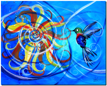On a Whim   Modern Abstract Fish Art Artwork Paintings J Vincent Scarpace