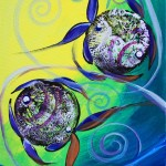Two Over Two Under  Modern Abstract Fish Art Artwork Paintings J Vincent Scarpace