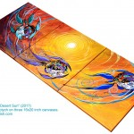 Under the Desert Sun  Modern Abstract Fish Art Artwork Paintings J Vincent Scarpace