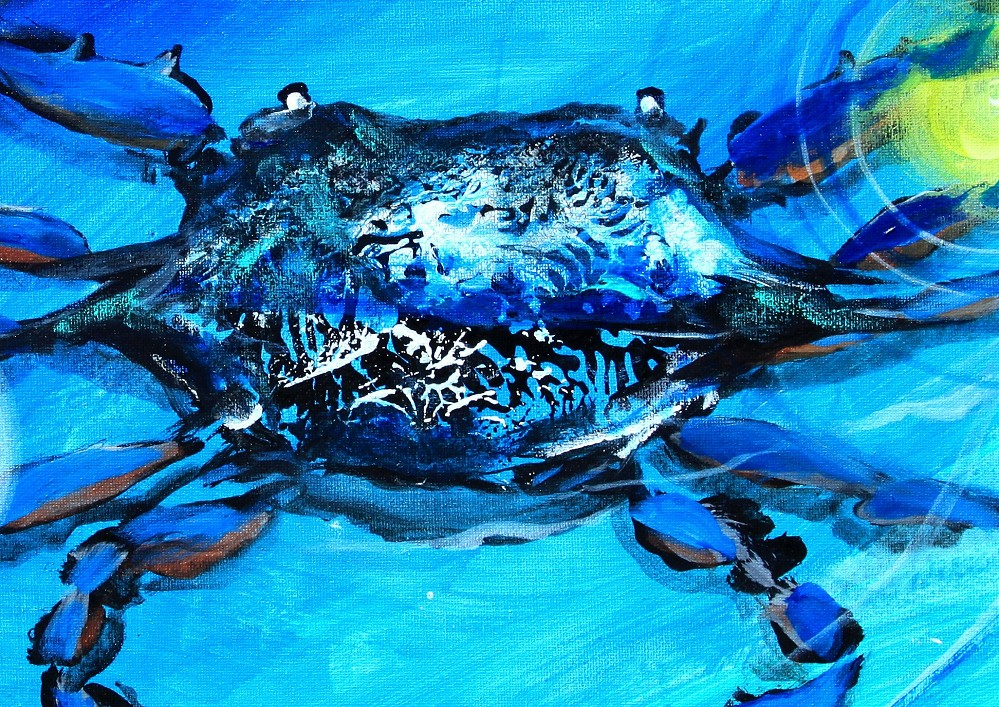 Blue crab abstract 2017 ipaintfish for Blue crab fishing