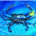 """Blue Crab, Abstract"" (2017)"
