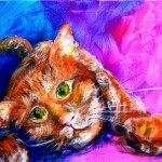 AbstrCat  Modern Abstract Fish Art Artwork Paintings J Vincent Scarpace