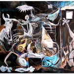 Version Fish Guernica  Homage to Picasso Modern Abstract Fish Art Artwork Paintings J Vincent Scarpace