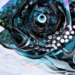 Things Are Looking Up  Modern Abstract Fish Art Artwork Paintings J Vincent Scarpace