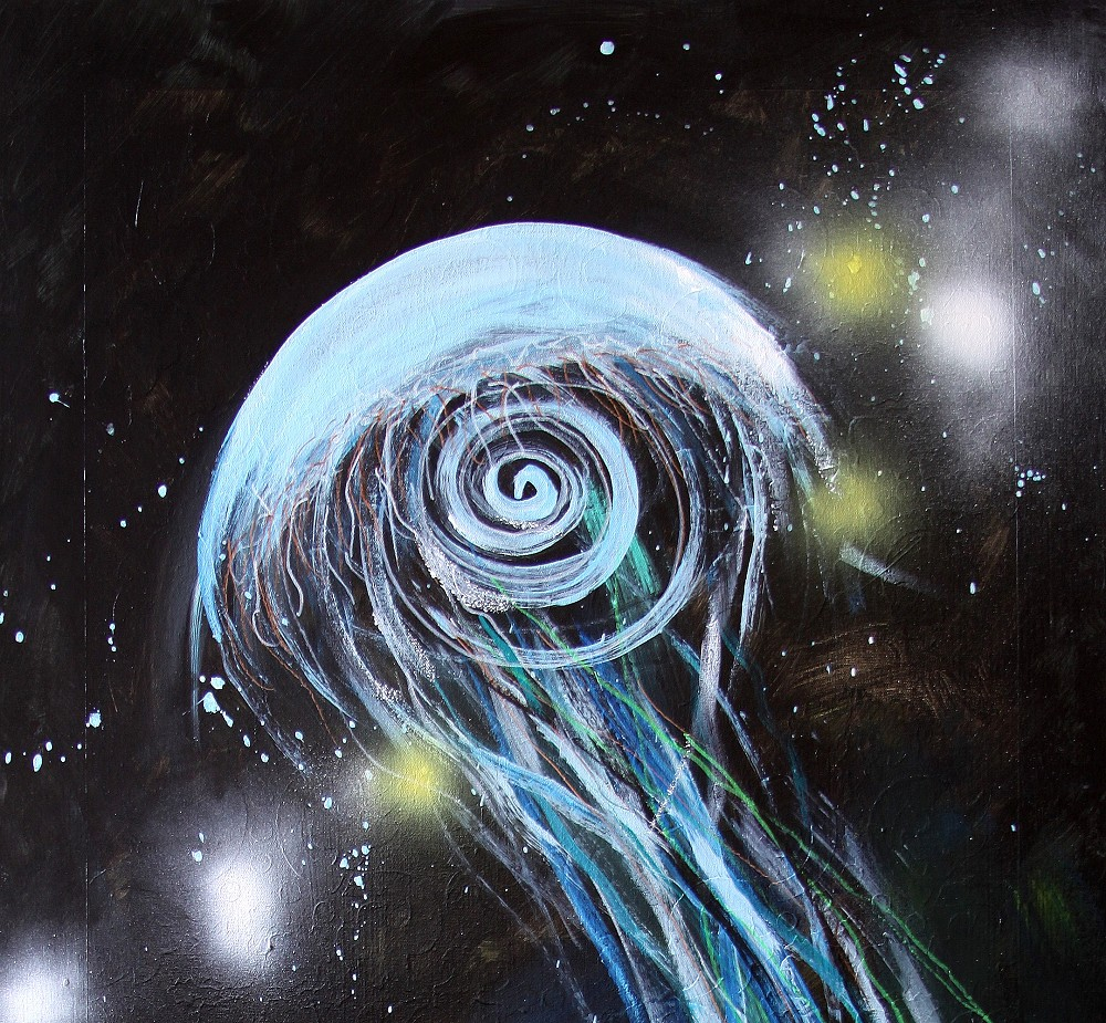 """""""Abstract JellyFish, 24″ (2017) 