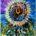 Sunflower wThoughts  Modern Abstract Fish Art Artwork Paintings J Vincent Scarpace