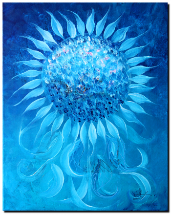 Cornflower In Moonlight  Modern Abstract Fish Art Artwork Paintings J Vincent Scarpace