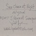 Sun Chase at Night  Modern Abstract Fish Art Artwork Paintings J Vincent Scarpace