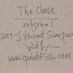 The Chase  Modern Abstract Fish Art Artwork Paintings J Vincent Scarpace