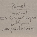 Beyond  Modern Abstract Fish Art Artwork Paintings J Vincent Scarpace