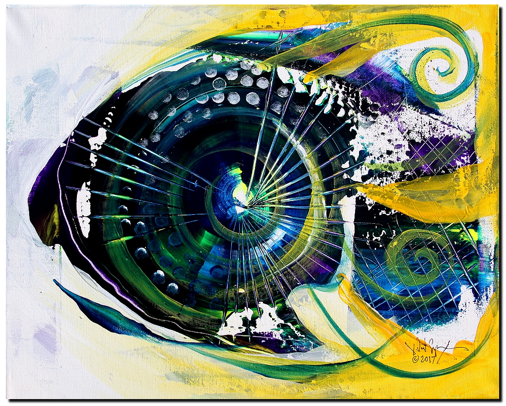 Synthesis  Modern Abstract Fish Art Artwork Paintings J Vincent Scarpace