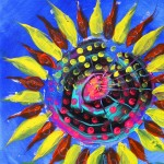 The Worlds Second Ugliest Sunflower Ever  Modern Abstract Fish Art Artwork Paintings J Vincent Scarpace