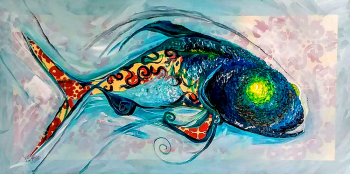 Keep it Simple  Modern Abstract Fish Art Artwork Paintings J Vincent Scarpace