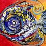 Child Fish  Modern Abstract Fish Art Artwork Paintings J Vincent Scarpace