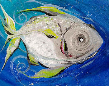 Some sorta Gulf Fish  Modern Abstract Fish Art Artwork Paintings J Vincent Scarpace