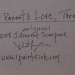 A Parents Love Three  Modern Abstract Fish Art Artwork Paintings J Vincent Scarpace