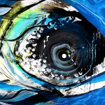 Abstract Snook in Blue  Modern Abstract Fish Art Artwork Paintings J Vincent Scarpace