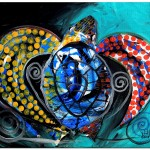 Deep Sea Sea Turtle  Modern Abstract Fish Art Artwork Paintings J Vincent Scarpace