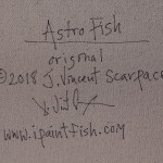 Astro Fish  Modern Abstract Fish Art Artwork Paintings J Vincent Scarpace