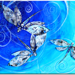 DragonFly Tri  Modern Abstract Fish Art Artwork Paintings J Vincent Scarpace