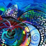 Love for the Sea Love for the Sea Turtle  Modern Abstract Fish Art Artwork Paintings J Vincent Scarpace