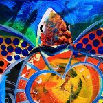 And the Sea Turtle Had a Heart  Modern Abstract Fish Art Artwork Paintings J Vincent Scarpace