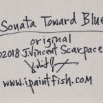 Sonata Toward Blue  Modern Abstract Fish Art Artwork Paintings J Vincent Scarpace