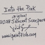 Into the Pink  Modern Abstract Fish Art Artwork Paintings J Vincent Scarpace
