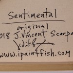 Sentimental  Modern Abstract Fish Art Artwork Paintings J Vincent Scarpace